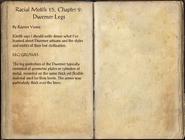 Racial Motifs 15, Chapter 9 Dwemer Legs