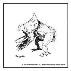 Кагути (концепт-арт TES III)
