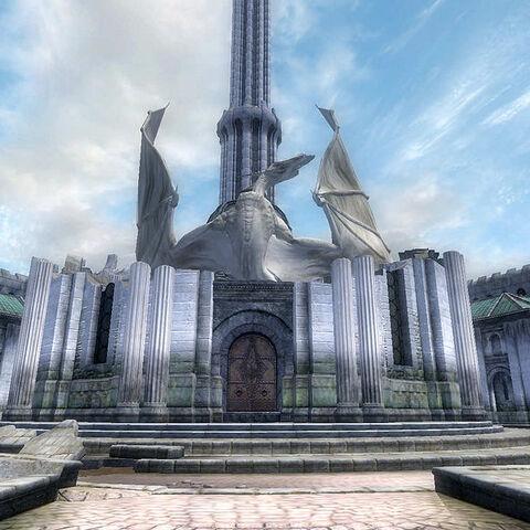 Kaplica po walce. Pośrodku zamieniony w kamień Martin.