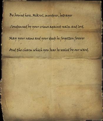 Mikrul's Writ of Sealing