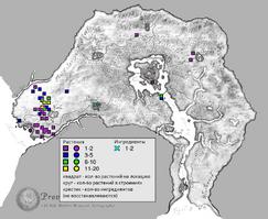 Белый стручок карта