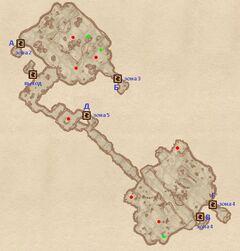Пещера Лангуст. План
