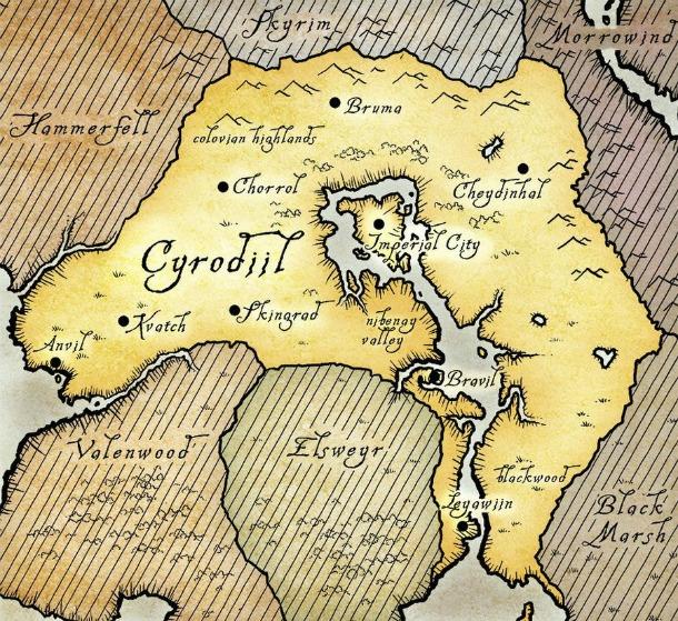 Map of Tamriel | Elder Scrolls | FANDOM powered by Wikia