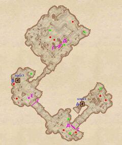 Проклятая шахта - Обвалившиеся пещеры. План