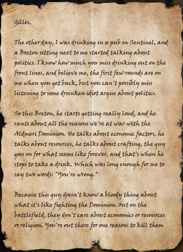 Image A Soldiers Letterg Elder Scrolls Fandom Powered By Wikia