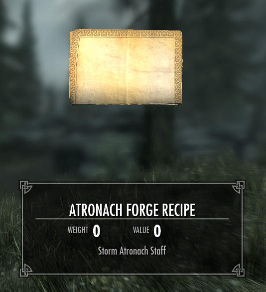 atronach forge recipe elder scrolls fandom powered by wikia