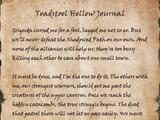 Toadstool Hollow Journal