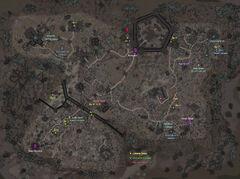 Каирн Душ (подробная карта)