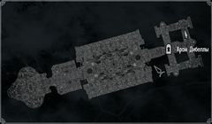 Храм Дибеллы - Внутреннее святилище - план