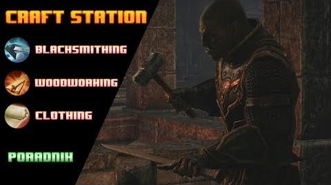 Blacksmithing, Clothing, Woodworking w ESO (film)