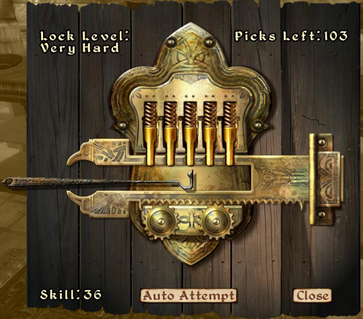 oblivion cheats pc lockpick code