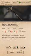 Ebony Light Hammer