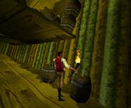 Redguard - The Goblin Caves - Lighting the Barrels
