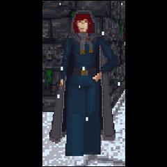 Bretonka podczas zimy w The Elder Scrolls: Arena