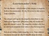 Quartermaster's Note