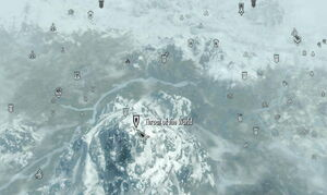 Throat of the world map