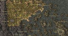 Родовая гробница Йенит. Карта