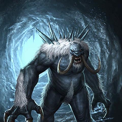 """Karta """"Grahl jaskiniowy"""" z gry The Elder Scrolls"""