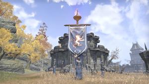 Флаг на шахте форта Эш