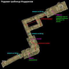 Родовая гробница Индаренов. План