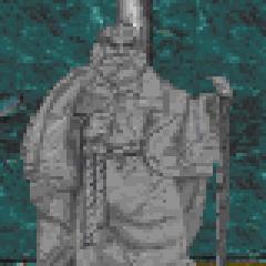 Posąg Stendarra z gry The Elder Scrolls II: Daggerfall