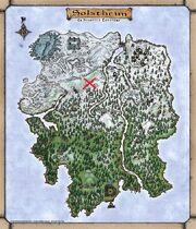 Batalla de Moesring Mapa