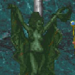 Posąg Kynareth z gry The Elder Scrolls II: Daggerfall