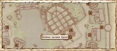 Великая часовня Аркея. Карта