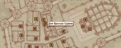 Дом Братьев Сурили - карта