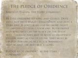 The Pledge of Obedience