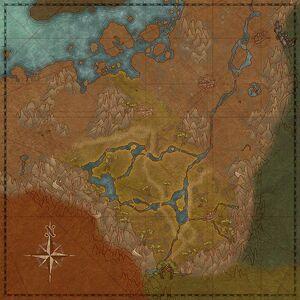 Бассейн реки Зило (карта)