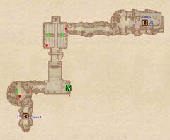 Костяной Нарост - Подземные ходы. План