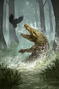 Lurking Crocodile card art