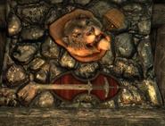 Stumbling Sabrecat Taxidermy (Skyrim)