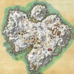 Остров Бликрок-Логово Когтя смерти-Карта