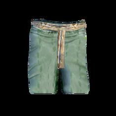 Зелёная шёлковая одежда