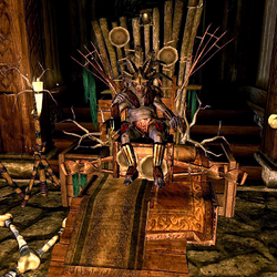 Риклинг-вождь на троне