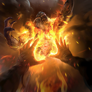 Burning Touch card art