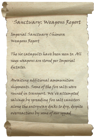 File:Sanctuary - Weapons Report.png