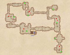 Пещера Кровного Родства - Извилистые ходы. План