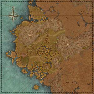 Затопленное побережье (карта)