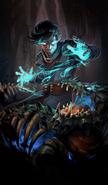 Black Worm Necromancer card art