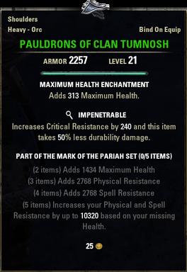 Pauldrons of Clan Tumnosh