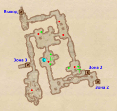 Пещера Полевой дом - план 1