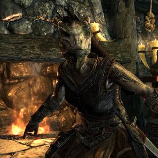 Argonianka z gry The Elder Scrolls V: Skyrim