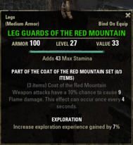 Coat of the Red Mountain - Leg Guards 27