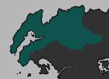 Egemonia Direnni alla sua massima estensione