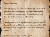 Letter to Raerana