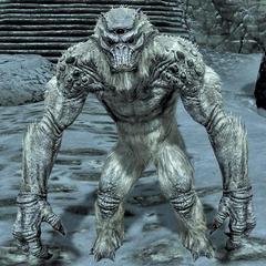 Troll śnieżny z gry The Elder Scrolls V: Skyrim