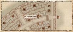 Дом Довина Арена. Карта